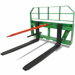 Titan 48 Pallet Fork Attachment Hd 49 Hay Bale Spear Fits John Deere Global