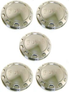 1961 1966 Ford Pickup Truck Stainless Wheel Hubcap Set Of Five Hub Caps