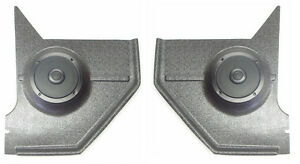 1967 68 Mustang Hardtop Kick Panels For Stereo Radio With Speakers