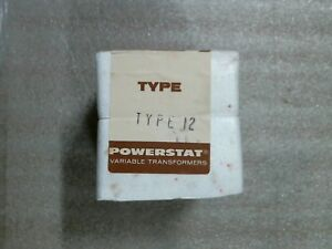 Superior Electric 315 0267 Type 12 Powerstat Variable Transformer Factory Sealer