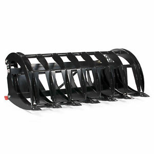 84 Extreme Hd Root Grapple Rake Clamshell Attachment Bucket Skid Steer Tractor