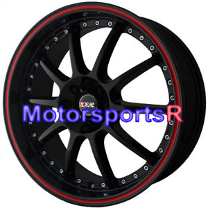 Xxr 941 18 X 7 5 Black Red Stripe Wheels Rims 4x114 3 02 06 Mitsubishi Lancer Es