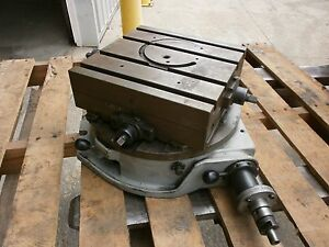 12 X 12 Troyke Dmt 15 Rotary Table Horizontal Cross Slide Workholding 318