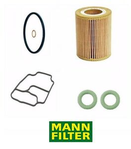 For Bmw Oil Filter Kit Mann Housing Stand Gaskets Ajusa E39 E46 M54