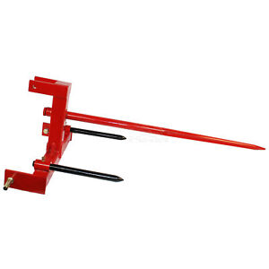 Titan Category 1 Tractor 3 Point Attachment W 39 Hay Spear 2 17 Stabilizers