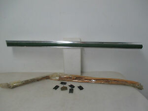 1976 78 Plymouth Volare Lh Front 4dr Wagon Dr Mldg W Green Insert Nos 4026987