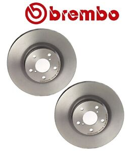 Pair Set Of Front Disc Brake Rotors Brembo For Subaru Forester Impreza Outback