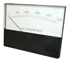 Npe Pd14 Ac Amperes Analog Panel Meter 0 50 Volts