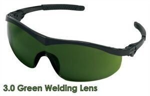 Mcr Crews Storm Safety Glasses With 3 0 Green Welding Lens