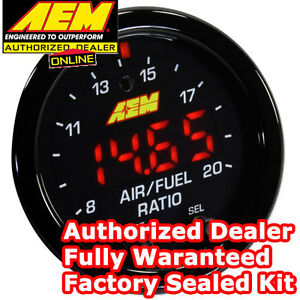 Aem 30 0300 X Series Wideband Gauge Afr O2 Uego Air Fuel Ratio 2 1 16 New Model