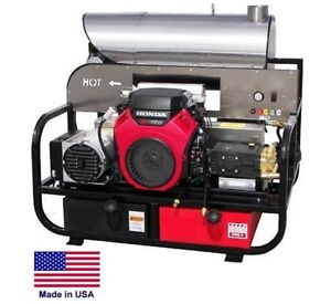 Pressure Washer Hot Water Skid Mounted 8 Gpm 3000 Psi 22 Hp Honda 115 Volt