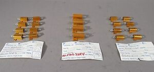 Pacific Resistors Assorted Lot Of 20 10 20 W New Old Stock