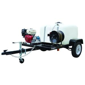 Pressure Washer Trailer System Cold Water 3200 Psi 100 Gal 5 5hp 2 8 Gpm