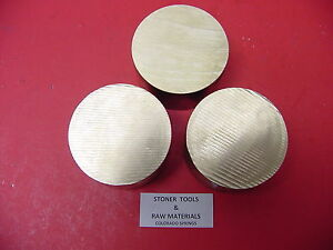 3 Pieces 3 C360 Brass Round Rod 1 5 Long Solid 3 00 Od H02 Lathe Bar Stock