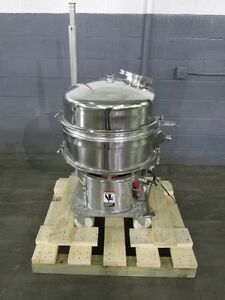 Kason Stainless Steel Vibratory Screener Single Deck 24 Sanitary new In 2005