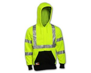 Tingley High Visibility Flame Resistant Hooded Sweat shirt Reflective Tape Sizes