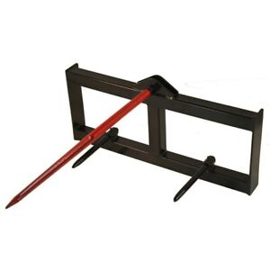 43 Tractor Hay Spear Attachment 3000 Lb Capacity Skid Steer Loader Quick Tach