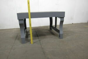 Vintage Cast Iron 55x47x35 Layout Inspection Work Table Bench W cast Iron Legs