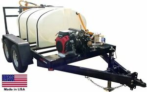 Sprayer Commercial Trailer Mounted Hwy Ready 500 Gallon Tank 20 Hp Honda
