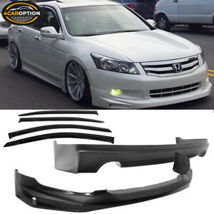 Fits For 08 10 Honda Accord Mugen Front Rear Bumper Lip Sun Window Visor