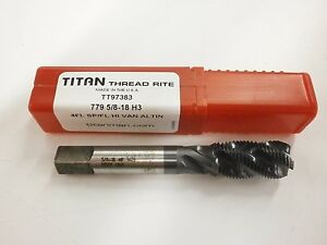 1pc 5 8 18 Cnc Vanadium Spiral Flute Bottom Tap Altin Titan Usa Tt97383 Tt200