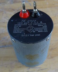 General Radio 1401 a Standard Air Capacitor 100uuf