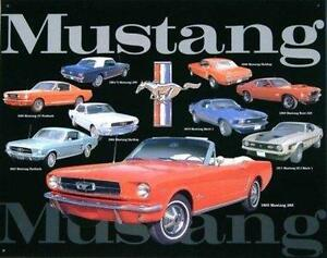 Vintage Replica Tin Metal Sign Ford Mustang Gt Fastback Mach 1 Convertible 96659