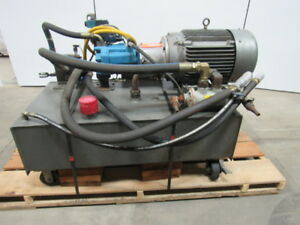 Vickers T50p ve Hydraulic Power Unit 25 Hp 2000psi 33gpm 70 Gal Tank