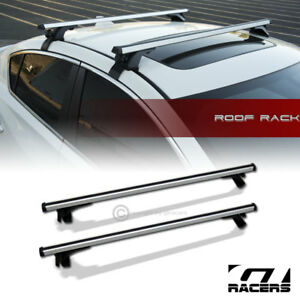Universal 55 Silver Window Frame Roof Top Rail Rack Tube Cross Bars Carrier G07