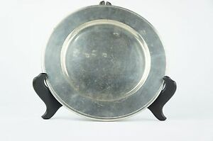 Nice Vintage Pewter Charger Y6 W6 A8