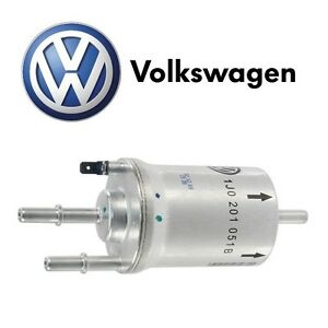 New For Vw Beetle 2006 10 Jetta 2002 05 Gas Fuel Filter Genuine 1j0 201 051 B