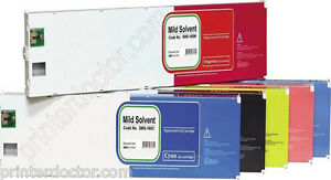 440ml Mild Solvent Ink Cartridge Set 6 Pcs For Roland Eco sol Max Sj 500 600