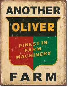 Vintage Replica Tin Metal Sign Oliver Finest Farm Machinery Logo Decal 1775