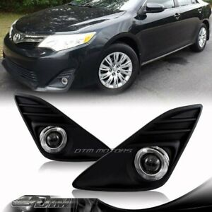 For 2012 2013 Toyota Camry Le Xle Divine Halo Projector Bumper Fog Lights Set