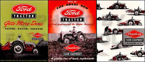1948 1952 Ford 8n Set Of 3 Sales Brochures Tractor And Implement Catalogs