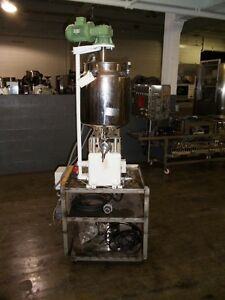 Kalix Piston Filler Single Head Stainless Steel Jacketed Heated Hopper