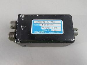 Waveline Model 12 w 1008a Coaxial Switch 28vdc Used