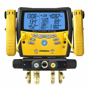 Fieldpiece Sman460 Wireless 4 port Digital Manifold W Micron Gauge