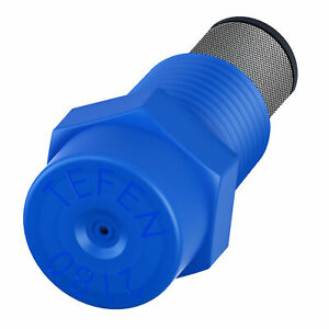 Plastic Fogger Misting Nozzle With Stainless Steel Filter Blue 1 8 Npt 1 5 Gph