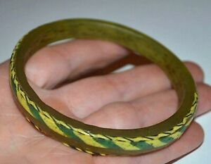 Rare Ancient Byzantine Bangle Medieval Roman Glass Bracelet Found In Mali Africa