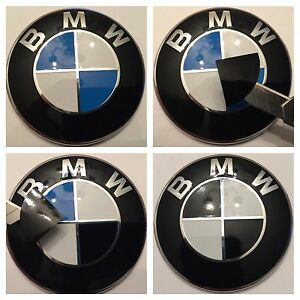 All Bmw Gloss Black Set Emblem Vinyl Cover Roundel Sticker Overlay