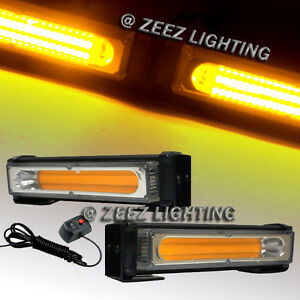 20w Amber Cob Led Emergency Hazard Warning Flash Strobe Beacon Light Bar C95