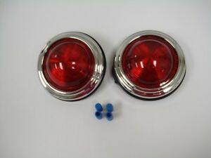 Classic 50 s Pontiac Style Led Tail Lights Street Rat Hot Rod