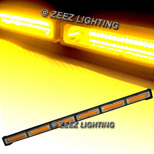 60w Amber Cob Led Traffic Advisor Emergency Warning Strobe Beacon Light Bar C97