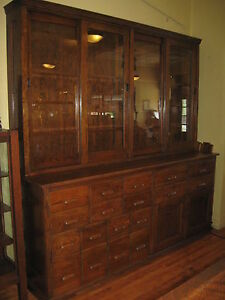 Weship Oak School Cabinet China Bookcase Store Display Kitchen Pantry Laboratory