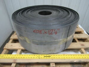 2 ply Black Rubber Longitudinal Ribbed Conveyor Belt 608 X 12 7 8 X 0 097