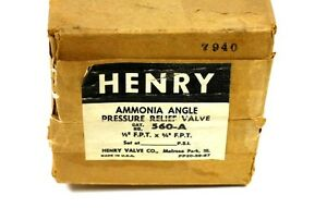 Nib Henry 560 a Pressure Relief Valve Ammonia Angle Type 1 2 F p t X 3 4