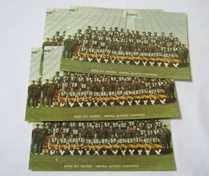 Green Bay Packers Large Vintage Postcard Lot Of 5 T