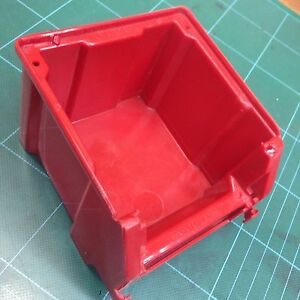 60 Pcs Duralux Dx100 Stackable Red Storage Bins Parts Hardware Tools Crafts