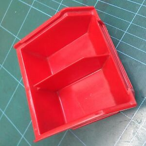 50 Pcs Schafer Ssi 85 b Stackable Red Storage Bins Parts Hardware Tools Crafts